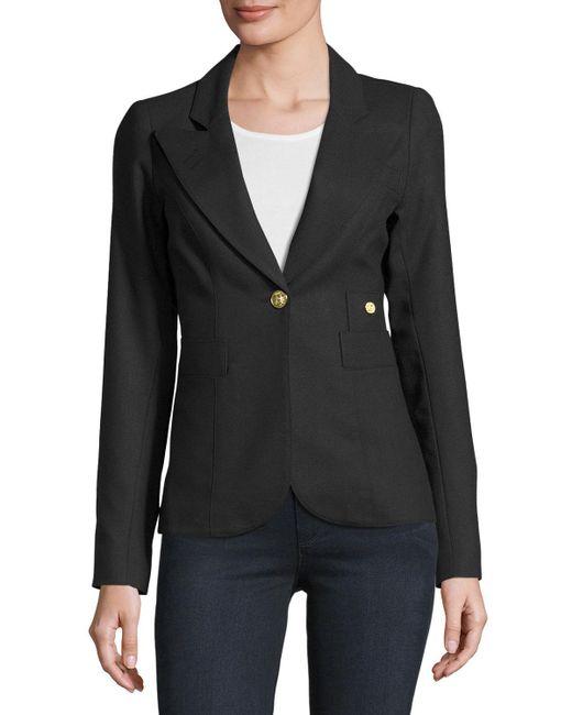 Smythe | Black Duchess Single-button Wool Blazer | Lyst