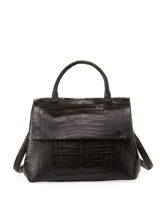 Nancy Gonzalez   Black New Top-handle Crocodile Satchel Bag   Lyst