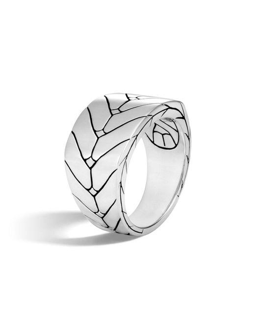 John Hardy - Metallic Men's Modern Chain Sterling Silver Band Ring for Men - Lyst