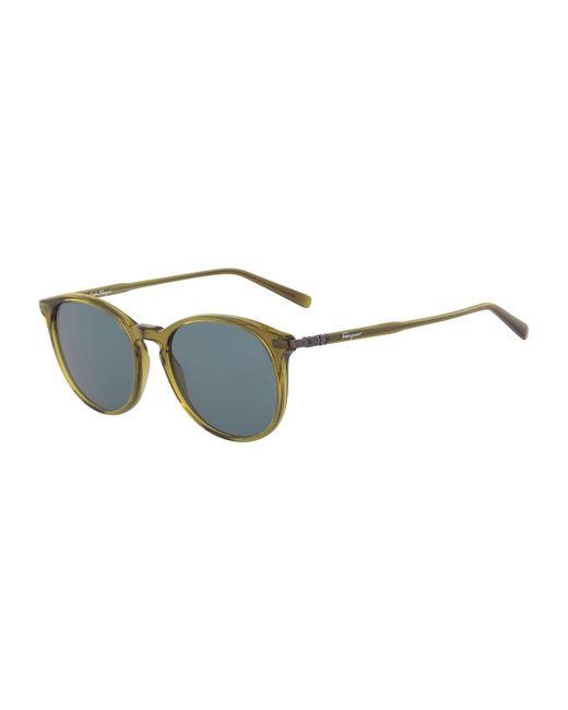 19a0d7f193d Ferragamo - Multicolor Men s Timeless Thin Round Acetate Pantos Sunglasses  for Men - Lyst