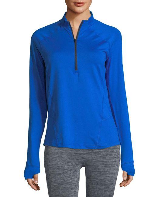 Under Armour - Blue Run True Half-zip Pullover Top - Lyst
