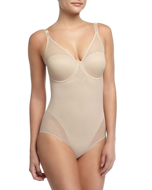 Tc Fine Intimates - Natural Sheer Body Briefer Bodysuit - Lyst