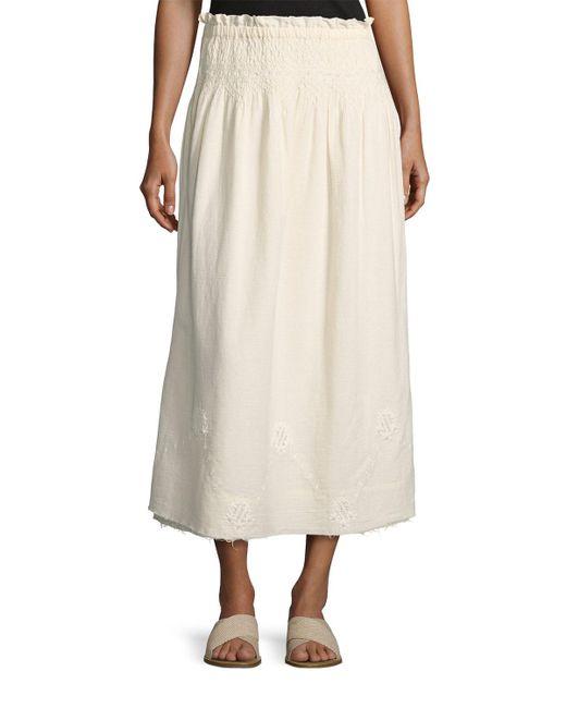 Current/Elliott - Natural The Rancher Convertible Maxi Skirt - Lyst