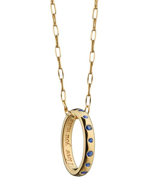 Monica Rich Kosann - Metallic Sapphire Posey Ring Necklace - Lyst