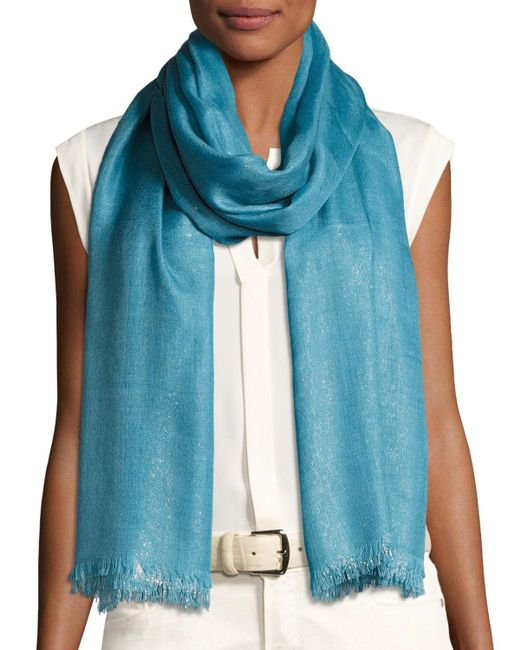Loro Piana - Blue Duo Soffio Cashmere-blend Evening Stole - Lyst