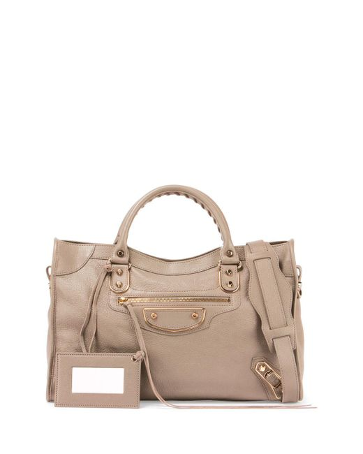Balenciaga | Natural Classic Metallic Edge City Leather Tote Bag | Lyst