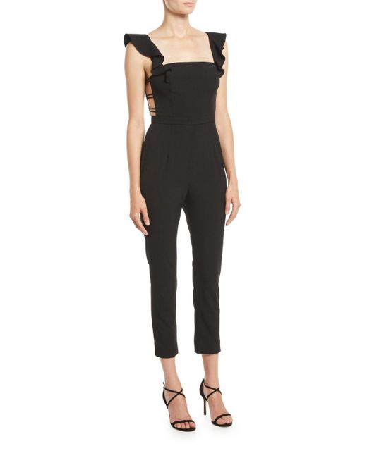 Fame & Partners - Black The Lunar Jumpsuit W/ Strappy Sides - Lyst