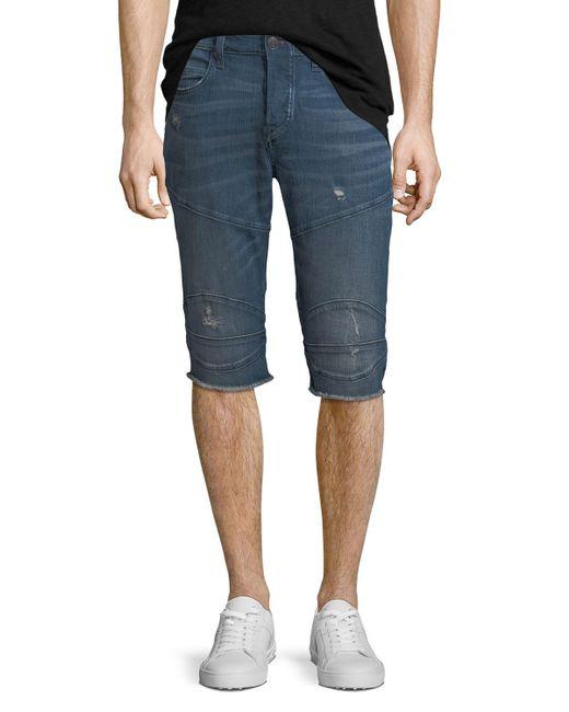True Religion   Blue Rocco Endless Road Biker Shorts for Men   Lyst