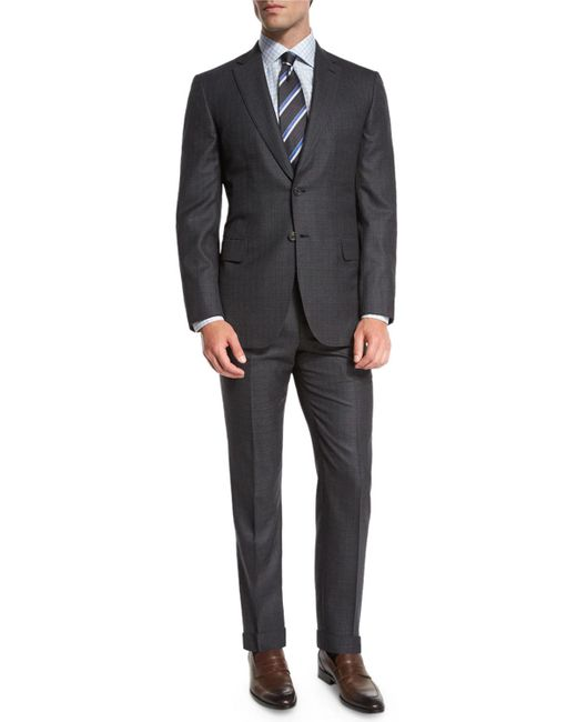 Brioni - Gray Box-check Two-piece Suit for Men - Lyst