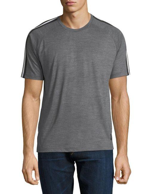 Zegna Sport | Gray Techmerino Jersey Short-sleeve T-shirt for Men | Lyst