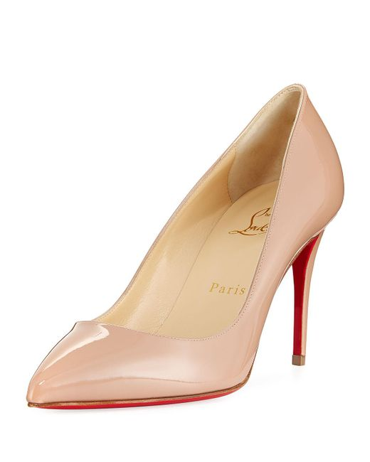 Christian Louboutin - Natural Pigalle Follies 85mm Patent Red Sole Pump - Lyst