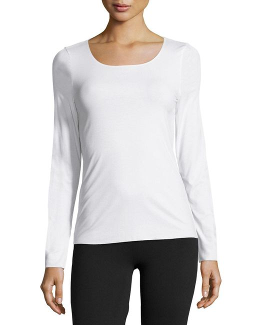 Wolford - White Pure Long-sleeve Pullover Top - Lyst