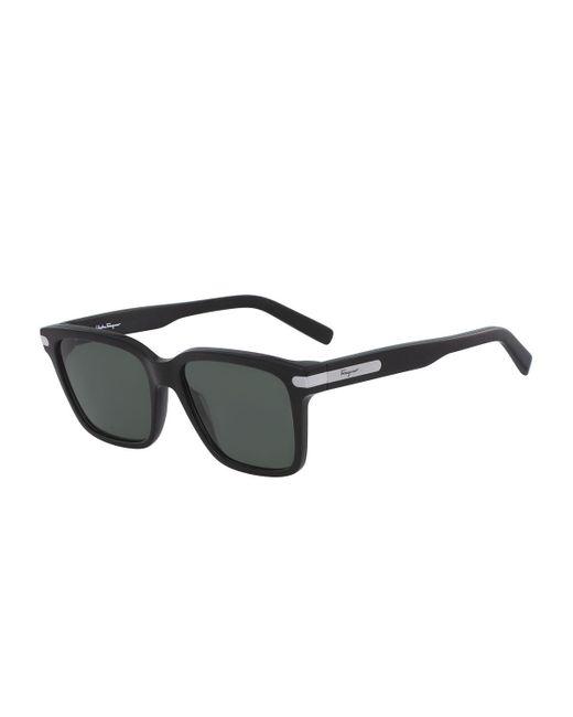 e99ea6d800a Lyst - Ferragamo Men s Classic Thick Square Sunglasses in Black for Men