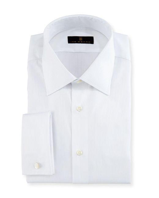 Ike Behar - White Gold Label Textured-stripe Dress Shirt for Men - Lyst