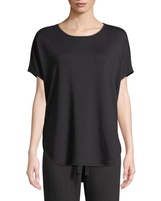 Natori - Black Zen Short-sleeve Caftan Top - Lyst