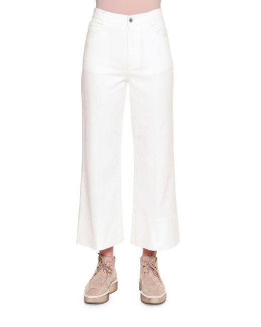Stella McCartney   White High-waist Culotte Jeans   Lyst