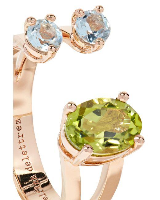 18-karat Rose Gold, Peridot And Aquamarine Ring - 4 Delfina Delettrez