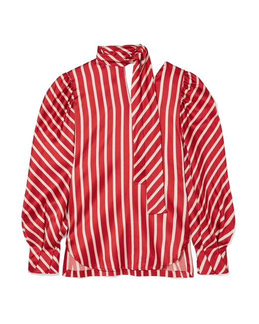 Silvia Tcherassi - Red Juliette Stripe Blouse - Lyst