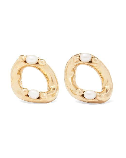 Rosantica - Metallic Ingranaggio Gold-tone Pearl Earrings - Lyst