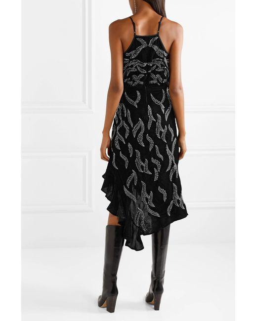 3910d78db3 Dodo Bar Or Embellished Asymmetric Dress in Black - Save 7% - Lyst