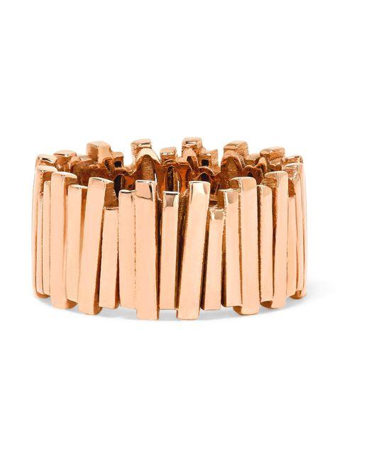 Suzanne Kalan | Metallic 18-karat Rose Gold Ring | Lyst