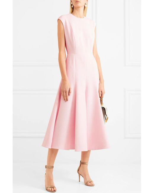 ... Emilia Wickstead - Pink Denver Cloqué Midi Dress - Lyst ...