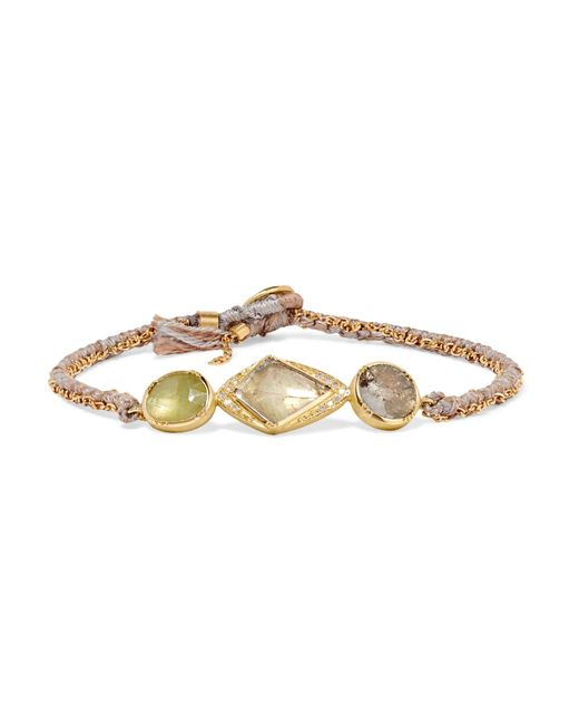 Brooke Gregson | Metallic Triple Orbit 18-karat Gold, Sapphire And Diamond Bracelet | Lyst