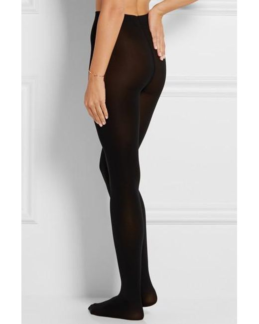 86531f99f47 ... Wolford - Black Set Of Two Matte Opaque 80 Denier Tights - Lyst ...