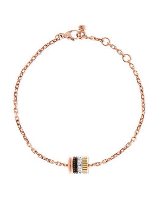 Boucheron Metallic Quatre Classique 18-karat Rose, Yellow And White Gold Diamond Bracelet