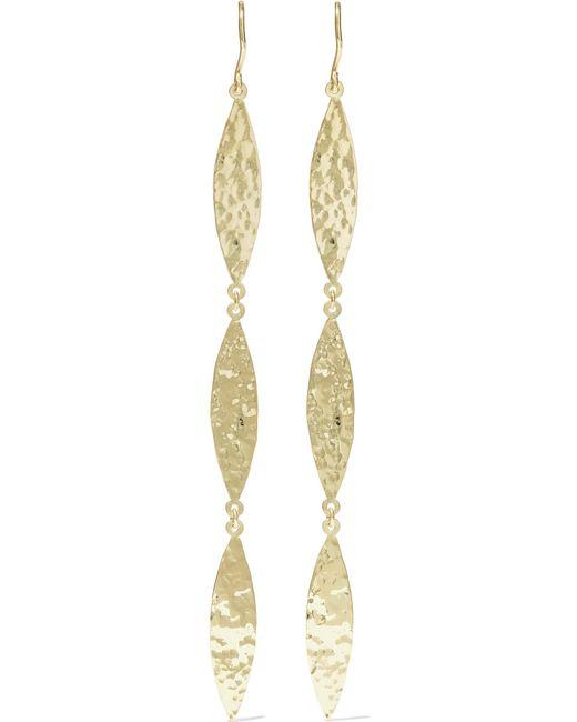 Jennifer Meyer | Metallic Hammered 18-karat Gold Earrings | Lyst