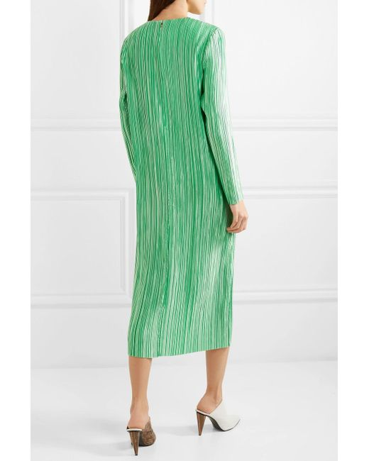 Official Site Cheap Online Pleated Satin Midi Dress - Green Tibi Low Price Fee Shipping Online For Cheap For Sale Free Shipping Find Great epj0X