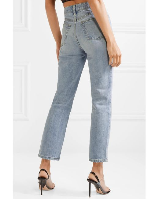 5cc25d857b81 ... Alexander Wang - Blue Cult Embroidered High-rise Straight-leg Jeans -  Lyst ...