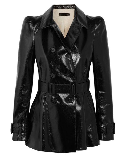 Bottega Veneta   Black Patent-leather Jacket   Lyst