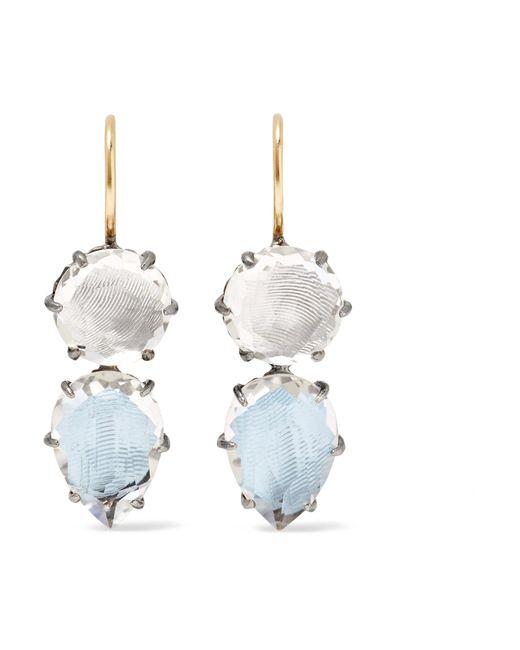 Larkspur & Hawk | Blue Caterina Rhodium-dipped Quartz Earrings | Lyst