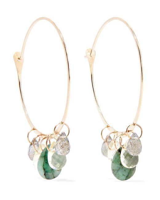 Melissa Joy Manning - Metallic 14-karat Gold Multi-stone Hoop Earrings - Lyst