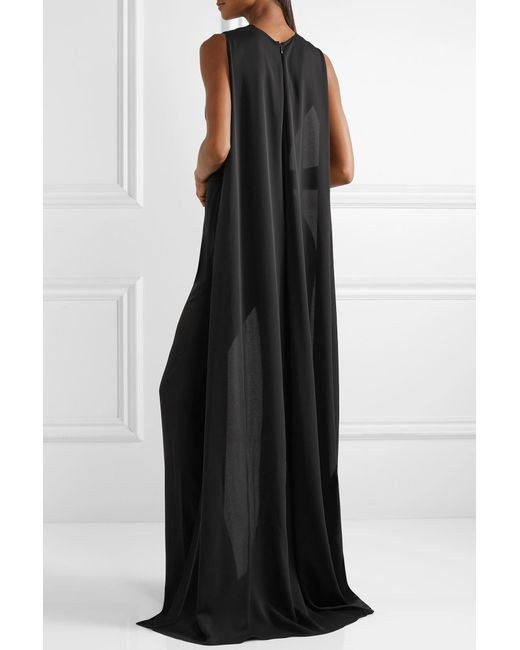 6fe013600c3 ... Tom Ford - Black Cape-effect Silk-georgette Jumpsuit - Lyst ...