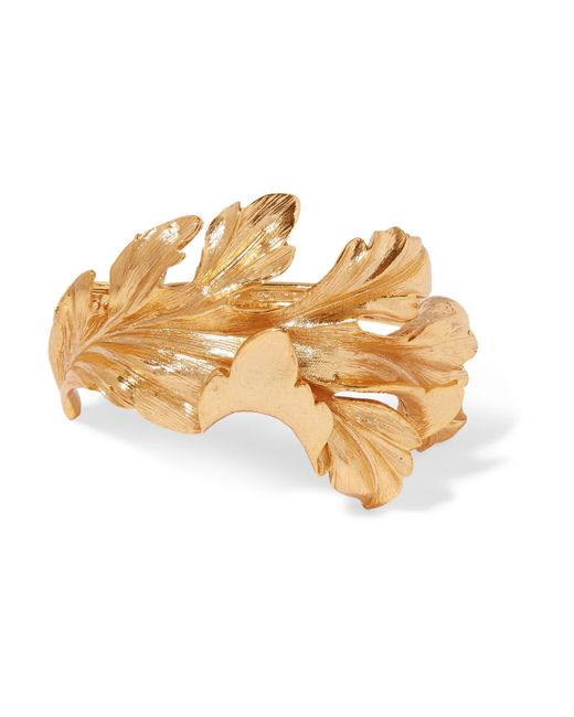 Oscar de la Renta - Metallic Gold-tone Bracelet Gold One Size - Lyst