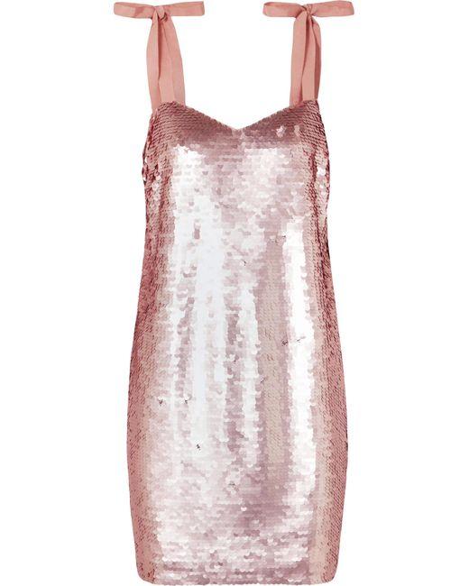 J.Crew - Pink Yokners Paillette-embellished Tulle Mini Dress - Lyst