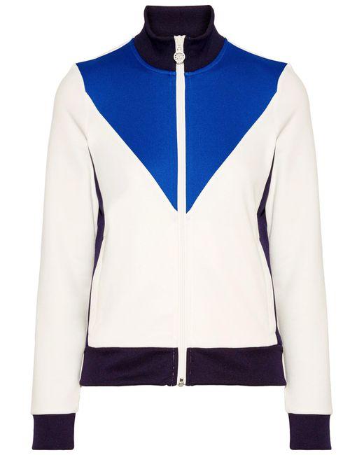 Tory Sport   White Color-block Piqué Track Jacket   Lyst