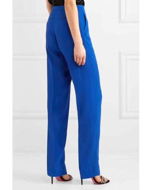 Crepe Straight-leg Pants - Blue Gucci YlSRs7f