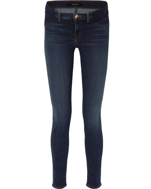 fe9bfd7929a62 J Brand - Blue Mama J Mid-rise Skinny Maternity Jeans - Lyst ...