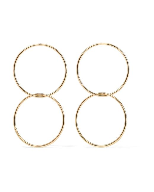 Kenneth Jay Lane | Metallic Gold-plated Hoop Earrings | Lyst
