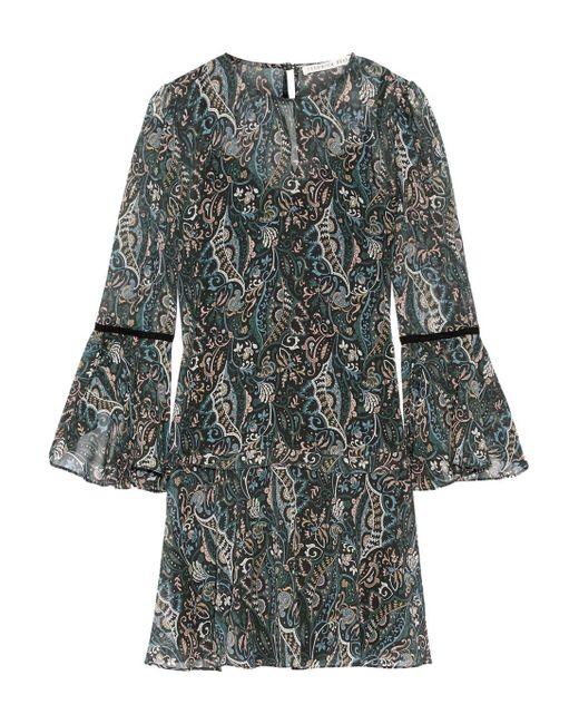 Veronica Beard - Multicolor Denver Printed Silk-chiffon Mini Dress - Lyst