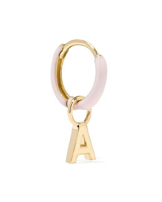 Alison Lou - Metallic Huggy 14-karat Gold Enamel Hoop Earring Gold T - Lyst