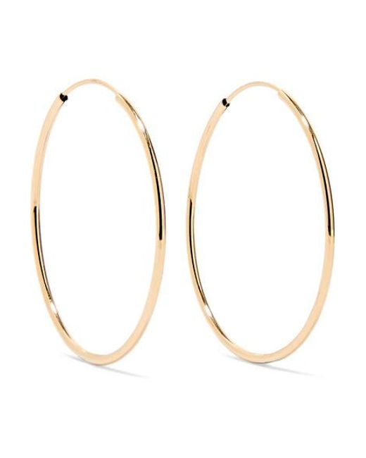 841d13e4d Loren Stewart - Metallic Infinity 14-karat Gold Hoop Earrings - Lyst ...