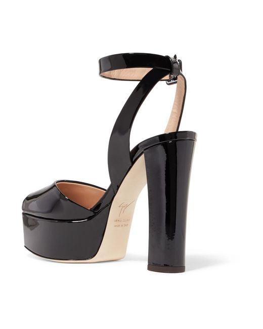 e39a9d31bce ... Giuseppe Zanotti - Black Betty Patent-leather Platform Sandals - Lyst  ...