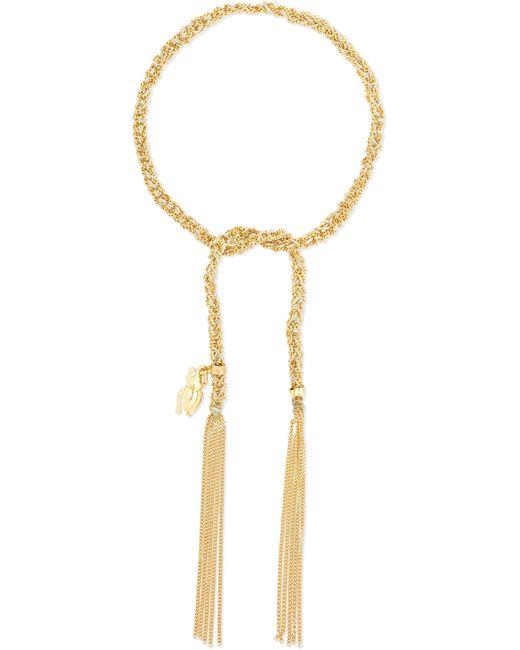 Carolina Bucci - Metallic Strength Lucky 18-karat Gold And Silk Bracelet - Lyst