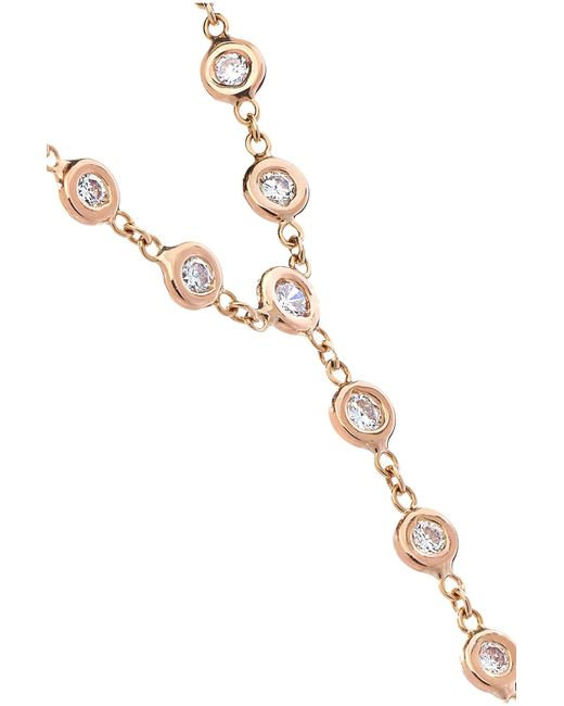 Jacquie Aiche 14-karat Rose Gold Diamond Finger Bracelet