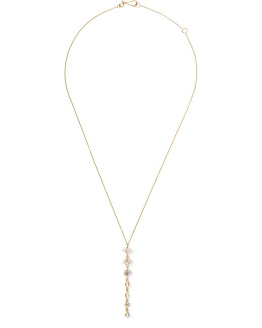 Melissa Joy Manning - Metallic 14-karat Gold Quartz Necklace - Lyst