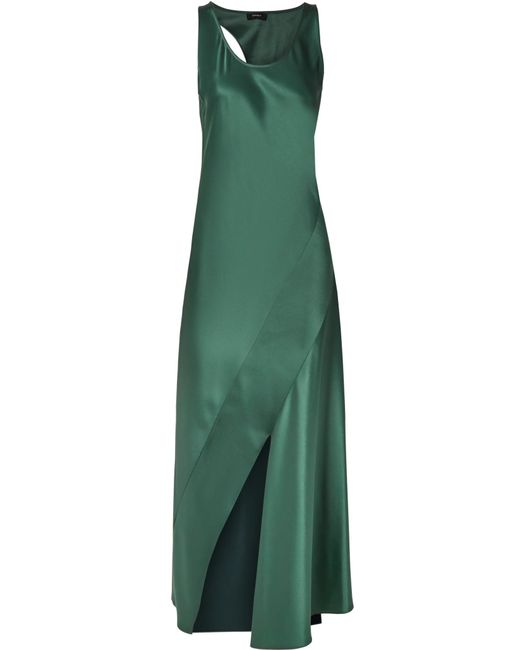 Theory - Green Cutout Satin Maxi Dress - Lyst